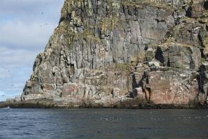 Der Akkarfjord in Nord-Norwegen bei Havøysund