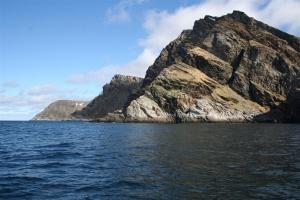 Der Måsøyfjord in Nord-Norwegen bei Havøysund