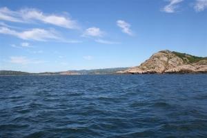 Angelplätze auf dem offenen Meer vor Farsund