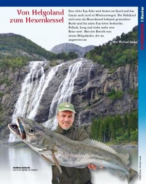 Angelbericht über den Dalsfjord in Norwegen